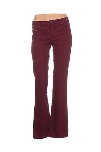 denim studio pantalons femme de couleur rouge