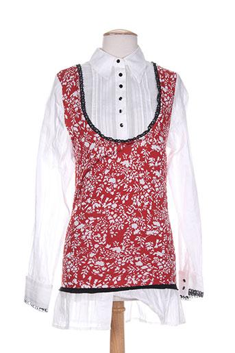 tricot chic tuniques femme de couleur rouge