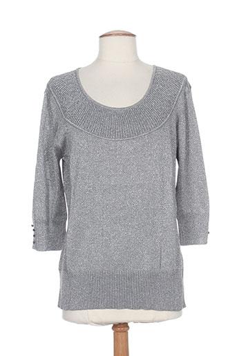 daneva pulls femme de couleur gris