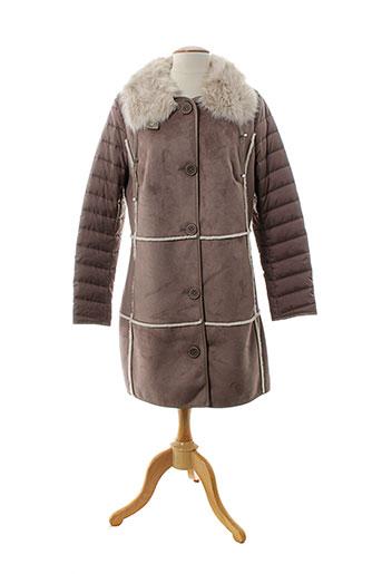 concept k manteaux femme de couleur marron