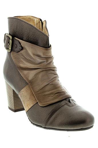 maciejka et obuwie boots femme de couleur marron