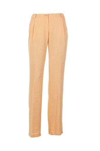 frank et eden pantalons et citadins femme de couleur orange