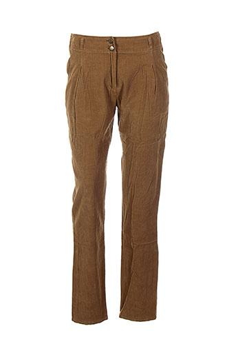 jacqueline et riu pantalons et decontractes femme de couleur marron