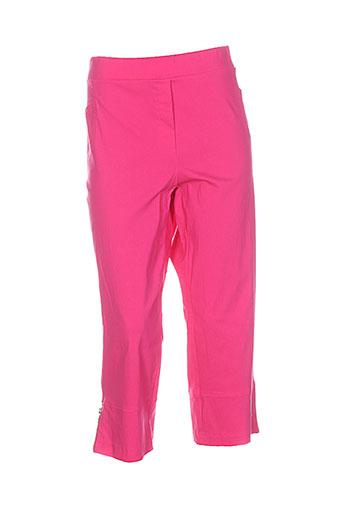 halogene pantacourts femme de couleur rose