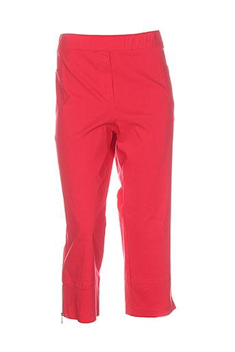halogene pantacourts femme de couleur rouge