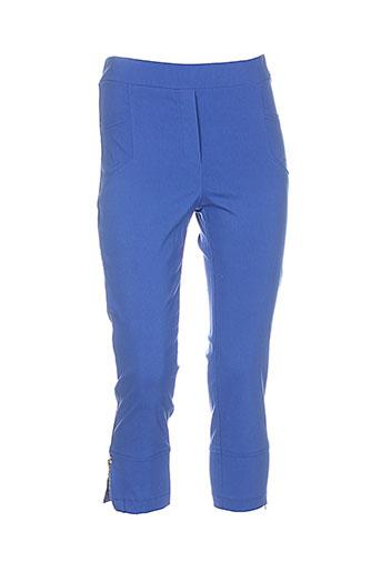 halogene pantacourts femme de couleur bleu