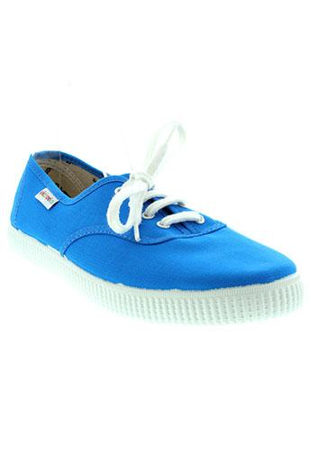 victoria chaussures unisexe de couleur bleu