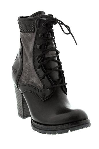 bunker chaussures femme de couleur noir