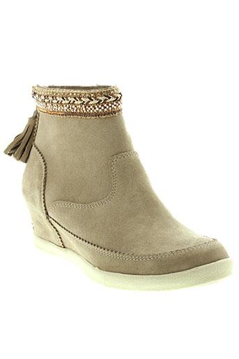 minka et design boots femme de couleur beige