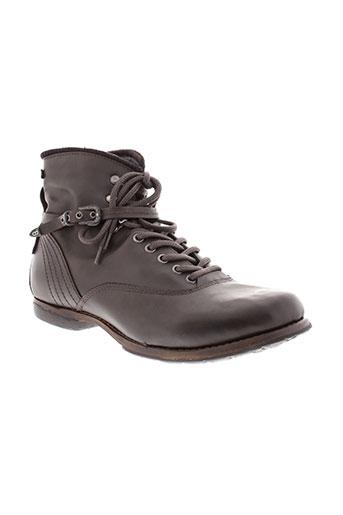 bunker boots homme de couleur marron