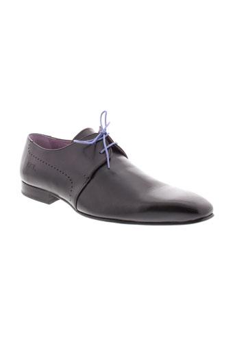 bunker chaussures homme de couleur marron