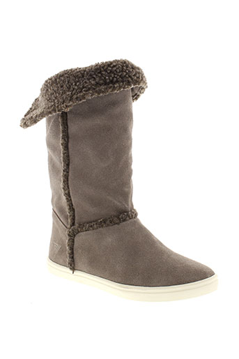 gola bottes femme de couleur gris