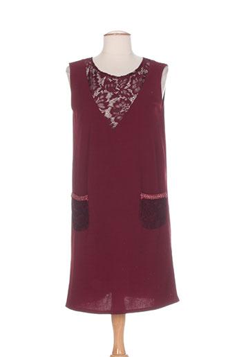 jessie & vanessa robes femme de couleur rouge