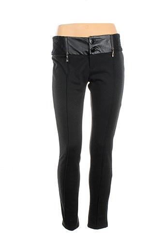 exquiss's pantalons femme de couleur noir