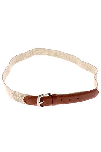 bruno et saint et hilaire ceintures homme de couleur beige