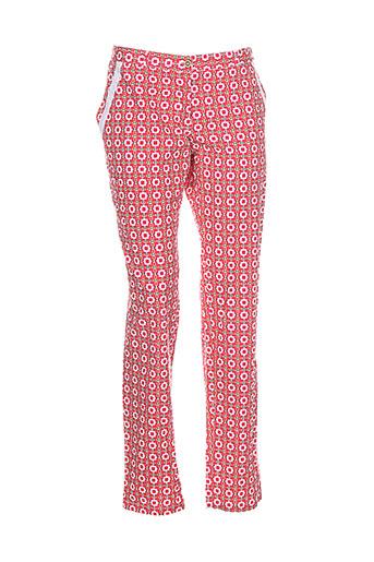 lara-ethnics pantalons femme de couleur rouge