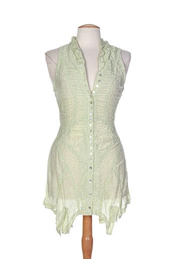 akela key chemises femme de couleur vert
