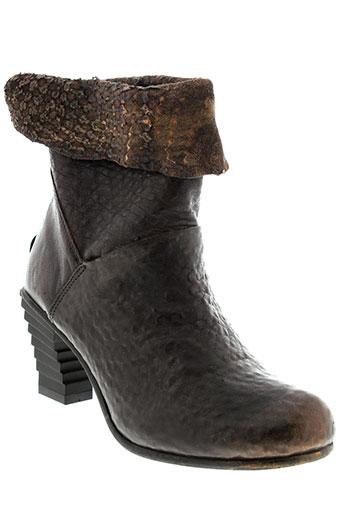 papucei bottines femme de couleur marron