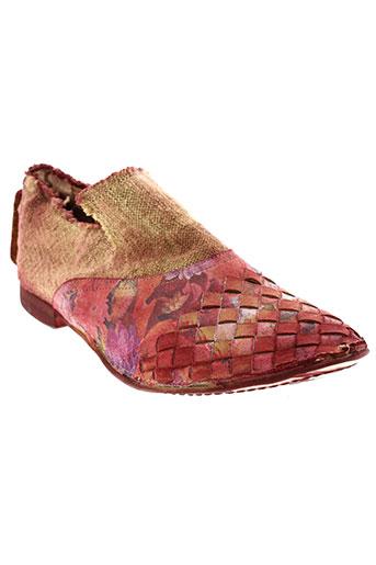 papucei chaussures femme de couleur rouge