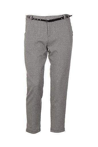 maison scotch pantalons femme de couleur gris