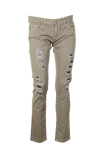 kocca jeans femme de couleur beige