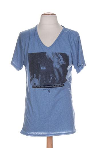 boom bap t-shirts homme de couleur bleu