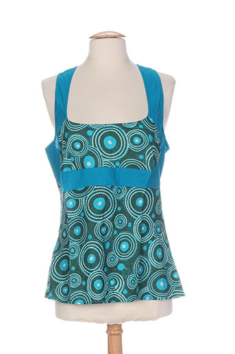 kaliyog chemises femme de couleur bleu