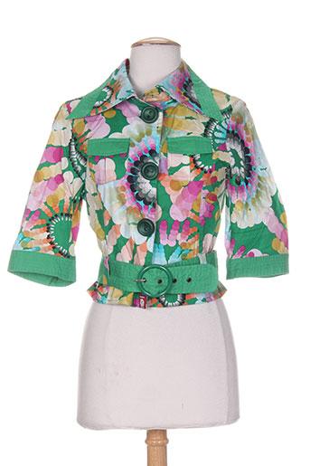 cheshire vestes femme de couleur vert