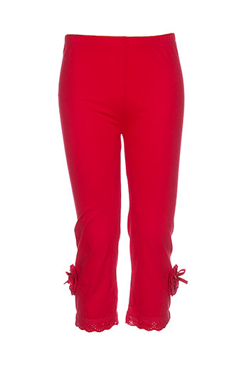 molly bracken pantalons fille de couleur rouge