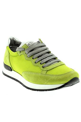 p448 baskets femme de couleur vert