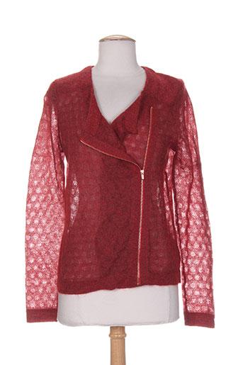 marie-sixtine vestes femme de couleur rouge
