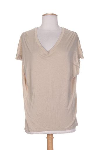 ams pure chemises femme de couleur beige