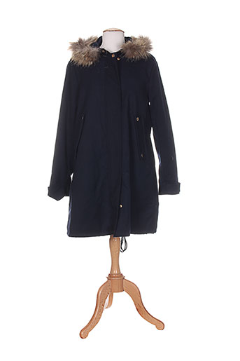 frnch manteaux femme de couleur bleu