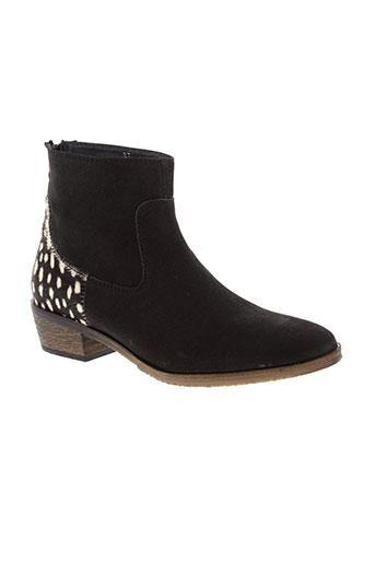 reqins boots femme de couleur noir