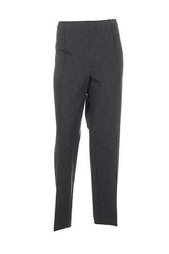 domina jersey pantalons femme de couleur gris