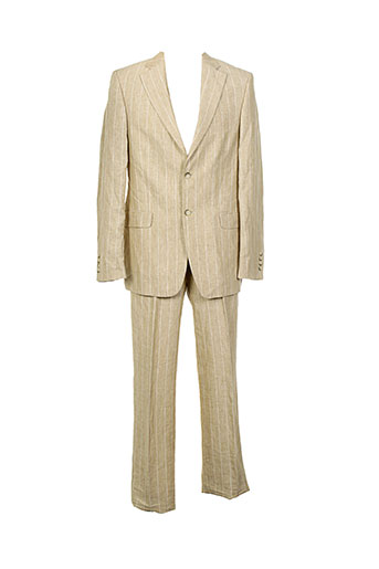 barberini pantalon et veste homme de couleur beige