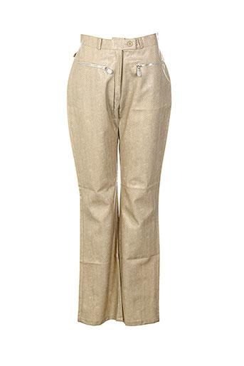Pantalon casual beige GOLDIE VAVA pour femme