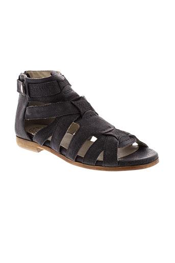 fabrica et dei et colli sandales et nu et pieds femme de couleur noir