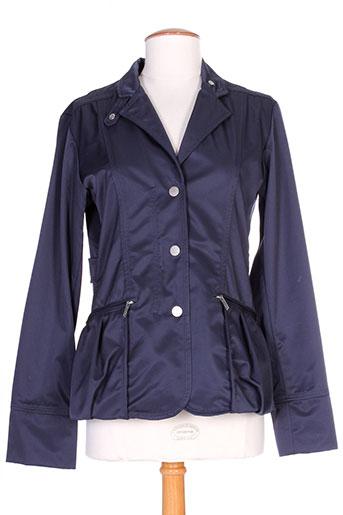 guxy vestes femme de couleur bleu