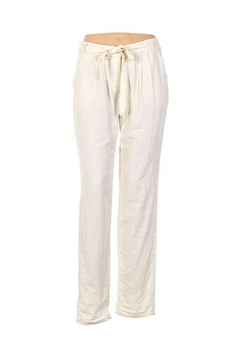 american vintage pantalons femme de couleur beige