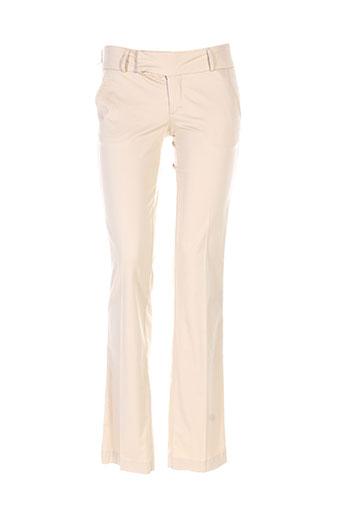 salsa pantalons femme de couleur beige