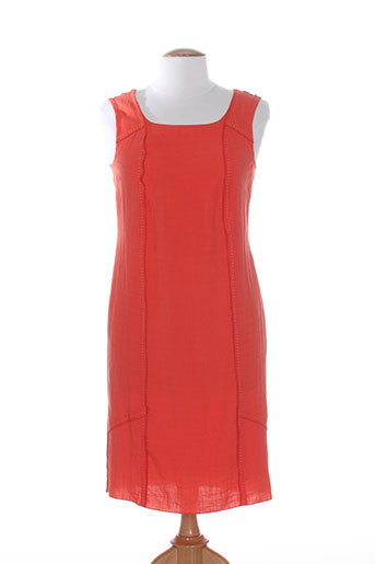 telmail robes femme de couleur orange