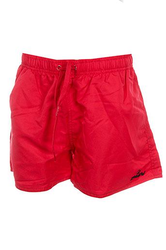 zonkepai maillots de bain garçon de couleur rouge