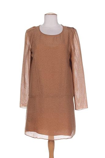 vanessa bruno robes femme de couleur marron