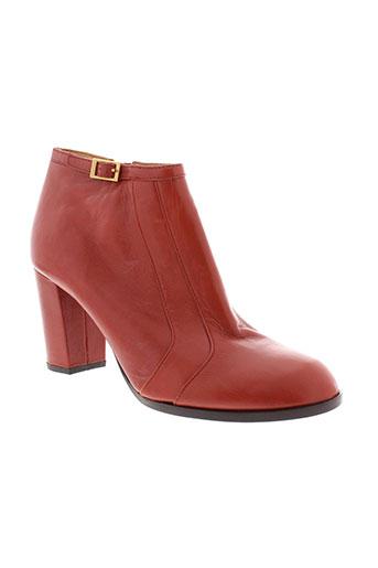chie et mihara boots femme de couleur rouge
