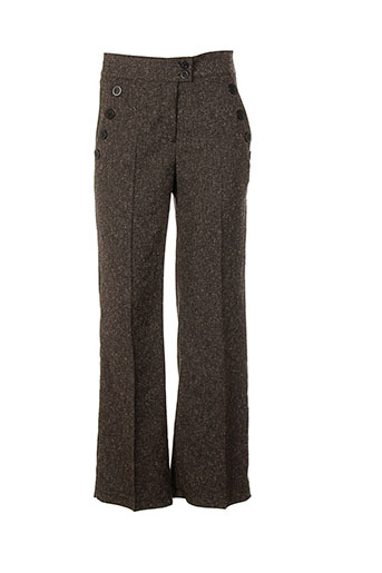 la fee maraboutee pantalons femme de couleur marron