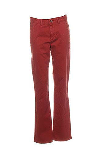 red-tag pantalons femme de couleur rouge