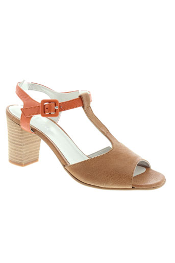 ayame sandales et nu et pieds femme de couleur marron