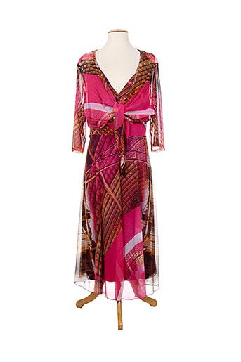 christine et laure robe et veste femme de couleur rose