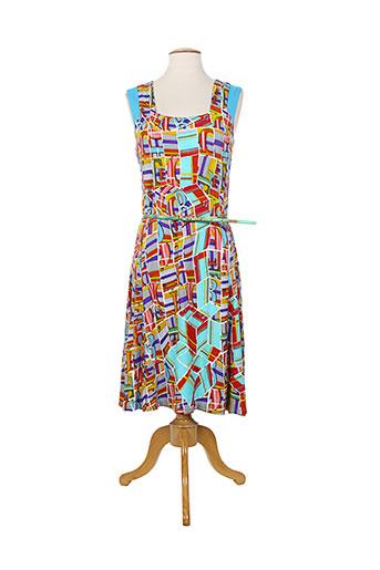 aventures des toiles robes femme de couleur bleu